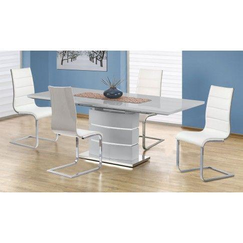 Zdjęcie produktu Rozkładany stół Wobis - popielaty.