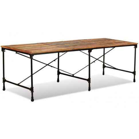 Zdjęcie produktu Stół z drewna odzyskanego Sinnar 3X – wielokolorowy.