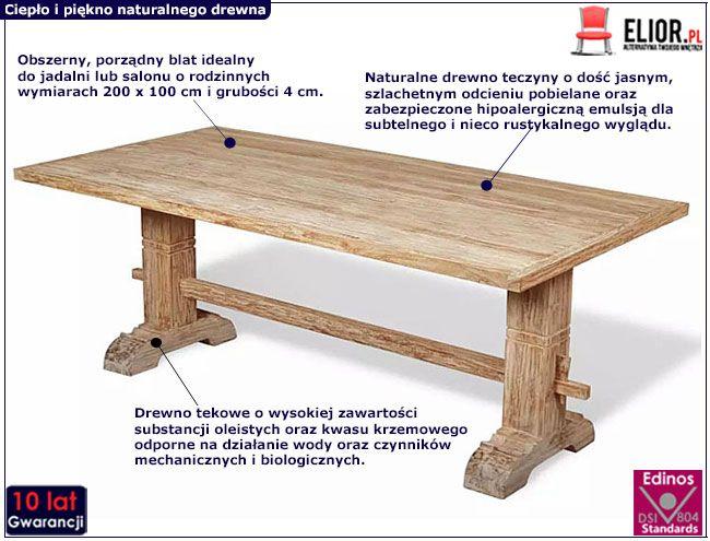 Stół drewniany Darius