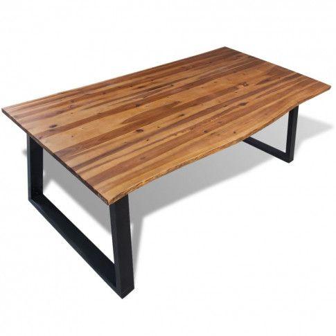 Zdjęcie produktu Jadalniany stół z akacji Raxin – brązowy .