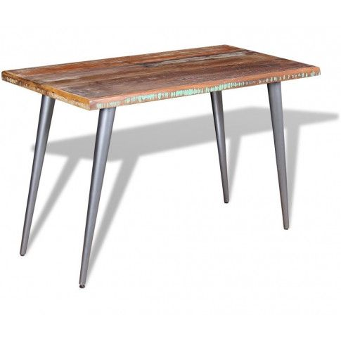 Wielokolorowy stół z drewna odzyskanego Laben