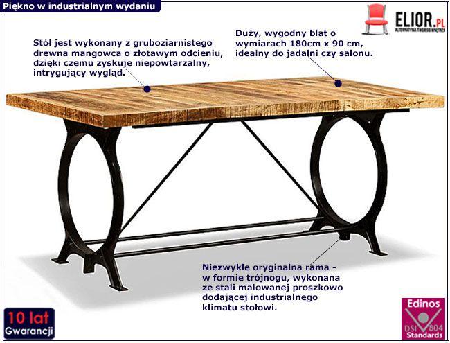 Stół Fermin 3F - infografika