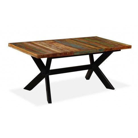 Stół z drewna mango Kalis 2X – wielokolorowy