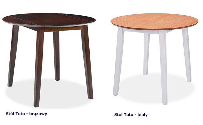 Dostępne kolory stołu Toto