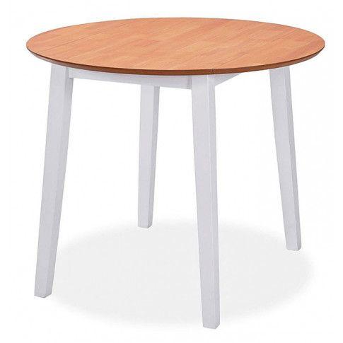 Zdjęcie produktu Stół składany Toto - biały + brąz.