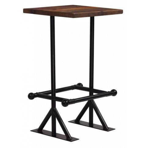 Zdjęcie produktu  Stół barowy drewniany Ruth 2X – ciemnobrązowy .