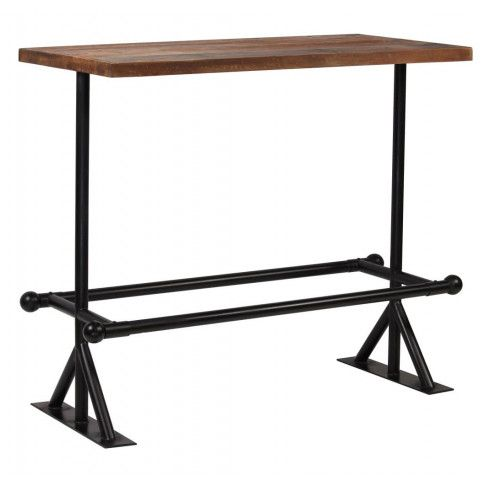 Zdjęcie produktu Stół barowy industrialny Ruth 3X – ciemnobrązowy .