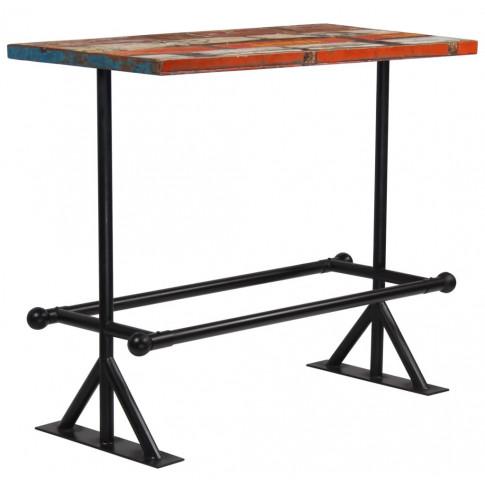 Kolorowy, drewniany stolik barowy  Sidden 3X