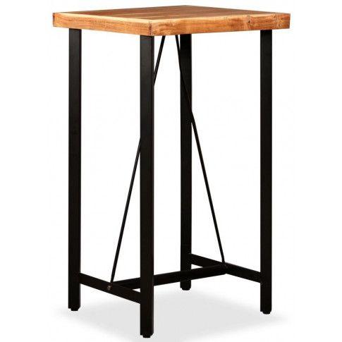 Zdjęcie produktu Brązowy industrialny stolik barowy – Chris 2X.