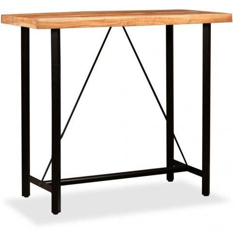 Zdjęcie produktu Brązowy industrialny stolik barowy – Chris 3X.