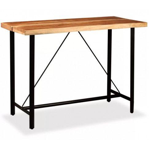 Zdjęcie produktu Brązowy industrialny stolik barowy – Chris 4X.
