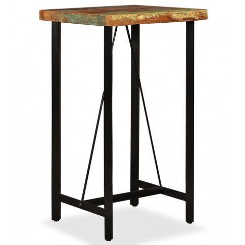 Zdjęcie produktu Wielokolorowy stolik z odzyskanego drewna – Chris 2X.