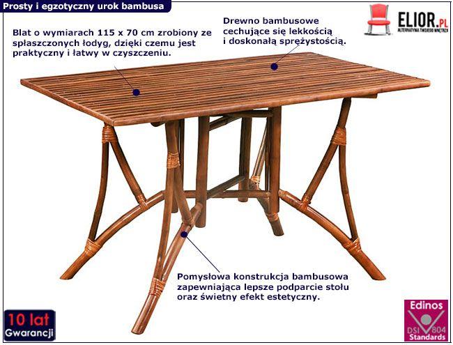 Stół bambusowy Ticiano