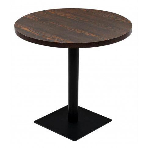 Zdjęcie produktu Okrągły stolik bistro Carol 3X – ciemny jesion.