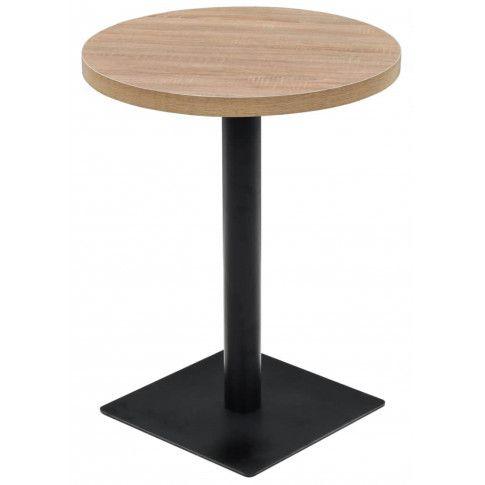 Zdjęcie produktu Jasnobrązowy okrągły stolik bistro - Carol 2X.
