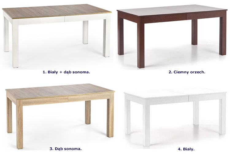 Stół rozkładany Daniels w kolorze dąb sonoma