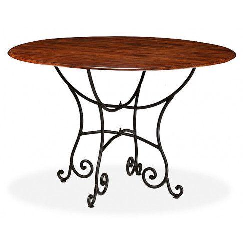 Zdjęcie produktu Duży okrągły stół industrialny Fleo 3F - palisander.