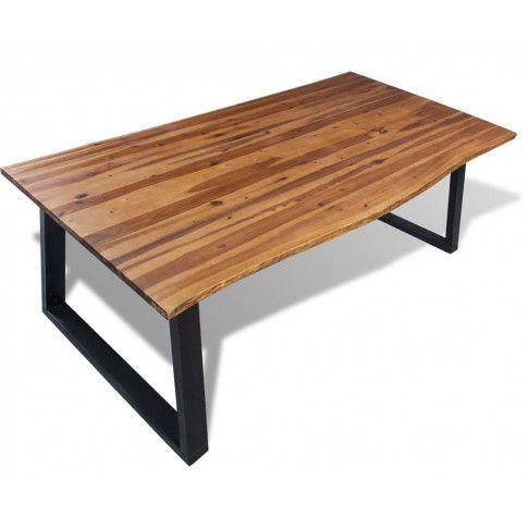 Zdjęcie produktu Stół do jadalni z drewna akacjowego Amix 2X – brązowy .