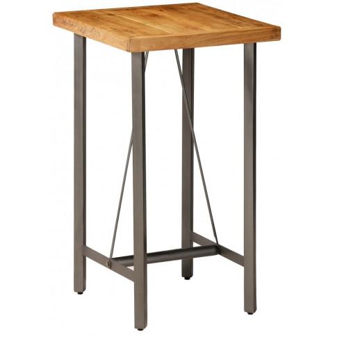 Stolik barowy z drewna tekowego Maxel 2X