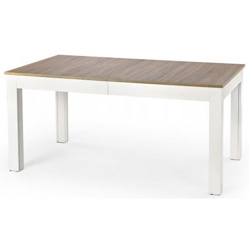 Rozkładany stół Daniels w kolorze białym i dąb sonoma