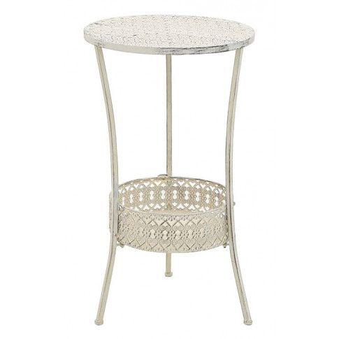 Zdjęcie produktu Romantyczny stolik vintage Marin - biały.