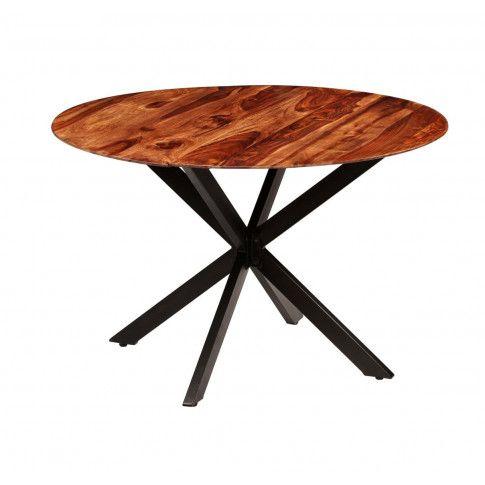 Zdjęcie produktu Stół okrągły w stylu loft do kuchni Rival – brązowy .