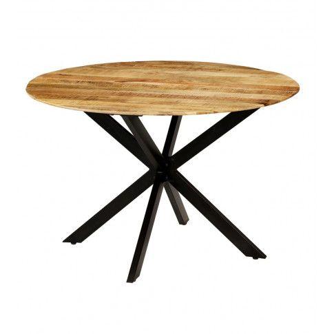 Zdjęcie produktu Stół okrągły w stylu loft do kuchni Rival – jasnobrązowy .
