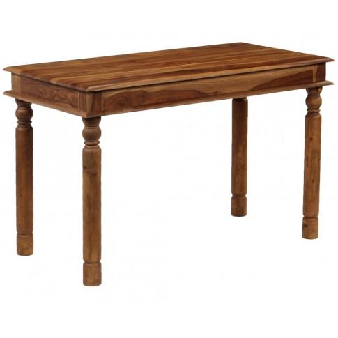 Kolonialny, prostokątny stół Cubus 3S w pozycji przedniej