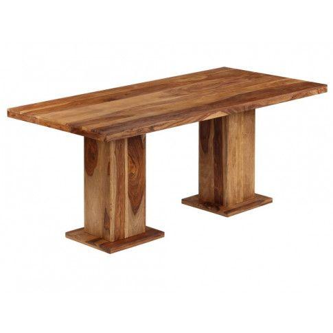 Brązowy stół Kemon z trwałego drewna sheesham
