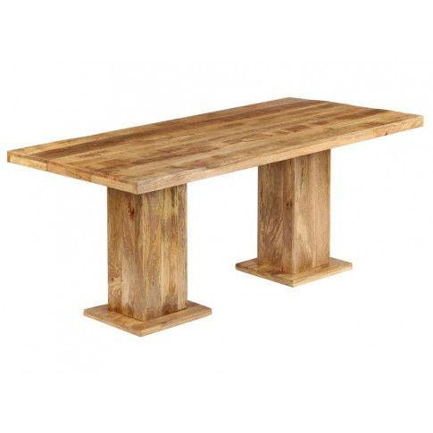 Jasnobrązowy stół Kemon z litego drewna mango