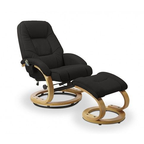 Zdjęcie produktu Fotel podgrzewany z masażem Keltis Black.