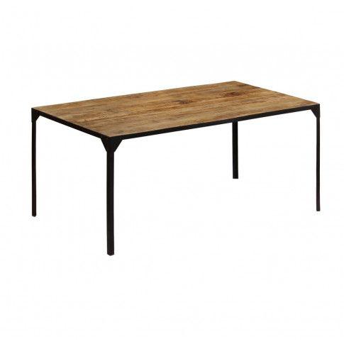 Zdjęcie produktu Stół ze stali i drewna Kartes 4X – brązowy .
