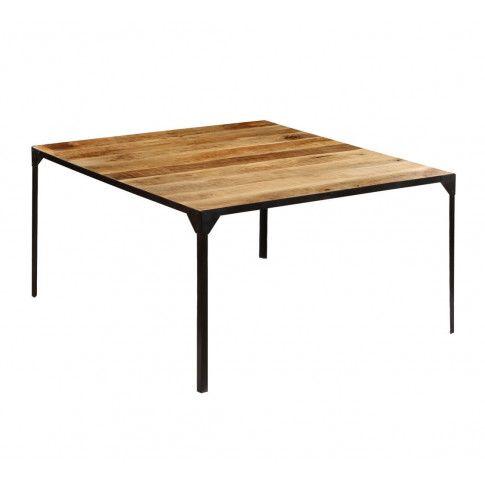 Zdjęcie produktu  Stół ze stali i drewna Kartes 3X – brązowy .