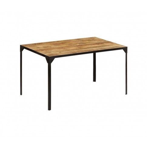 Zdjęcie produktu Stół w stylu industrialnym ze stali i drewna Kartes 2X – brązowy .