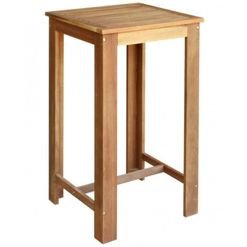 Zdjęcie produktu Stolik barowy drewniany Piles 2X – brązowy .