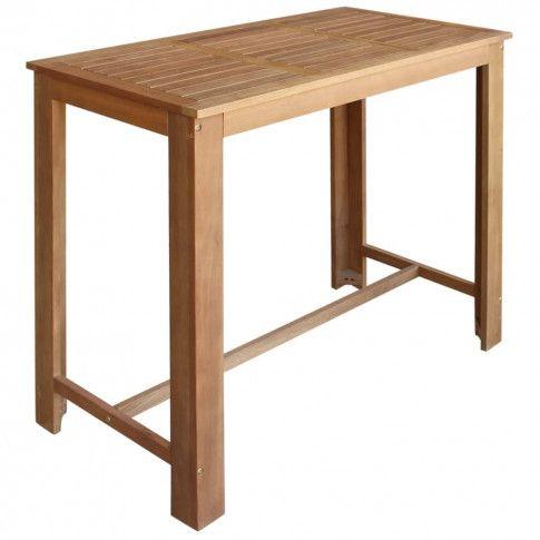 Zdjęcie produktu Stolik barowy drewniany Piles 3X – brązowy .