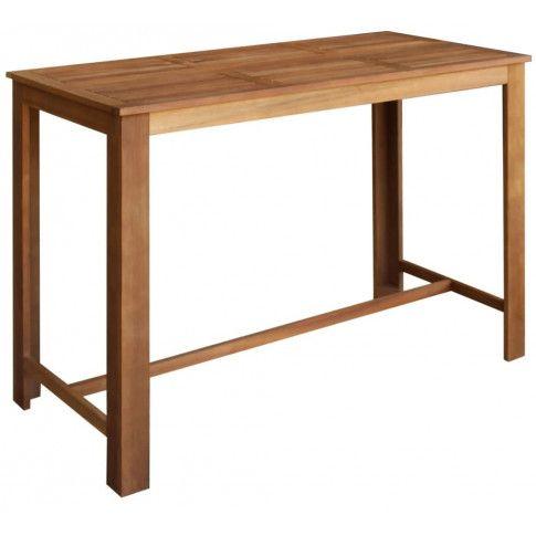 Zdjęcie produktu Stolik barowy drewniany Piles 4X – brązowy .