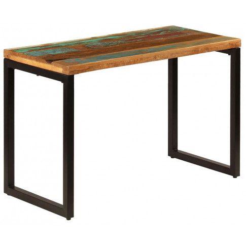 Zdjęcie produktu Stół jadalniany z odzyskanego drewna i stali Abis – wielokolorowy .