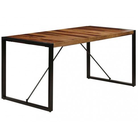 Industrialny stół Veriz 4X z drewna sheesham