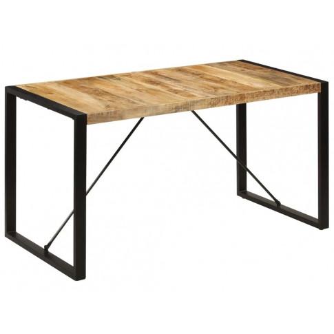 Industrialny stół z litego drewna mango Veriz  2X