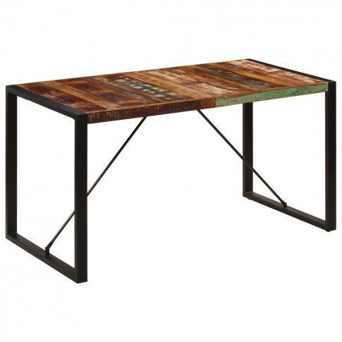 Stół drewniany Veriz 2X z odzysku kolorowy