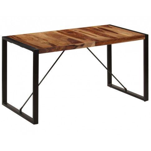 Zdjęcie produktu Brązowy stół z drewna sheesham 70x140 – Veriz 3X.