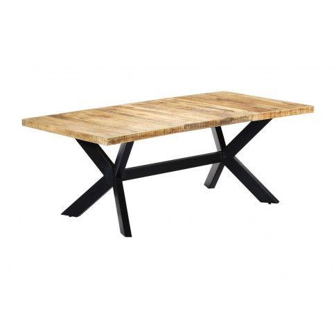 Zdjęcie produktu Stół z drewna mango Kalis 6X – jasnobrązowy .