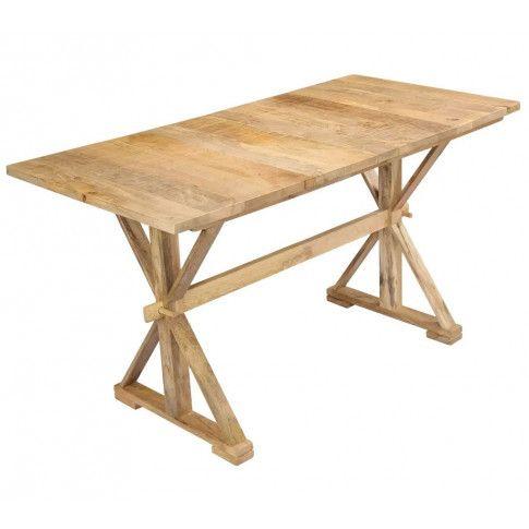 Zdjęcie produktu Stół z litego drewna mango Wadas – jasnobrązowy .