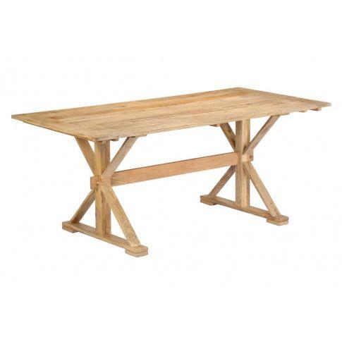 Zdjęcie produktu Stół z drewna Wadas 3X – jasnobrązowy .