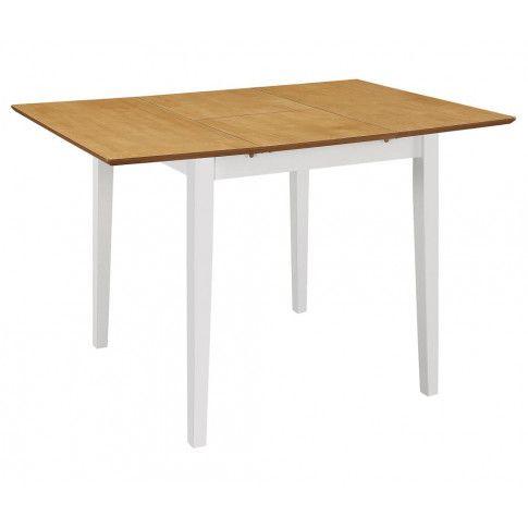 Zdjęcie produktu Stół rozsuwany z MDF Amis – biało-brązowy .