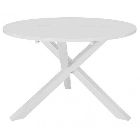 Zdjęcie produktu Stół okrągły ze skośnymi nogami Emis – biały.