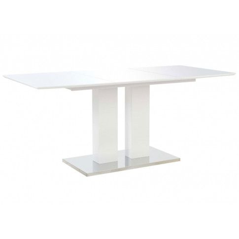 Zdjęcie produktu Stół jadalniany z połyskiem Alur – biały .