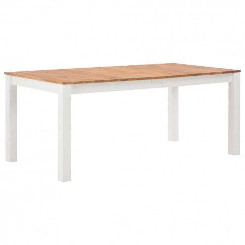 Zdjęcie produktu Stół jadalniany z drewna dębowego Erin 2X – biały .