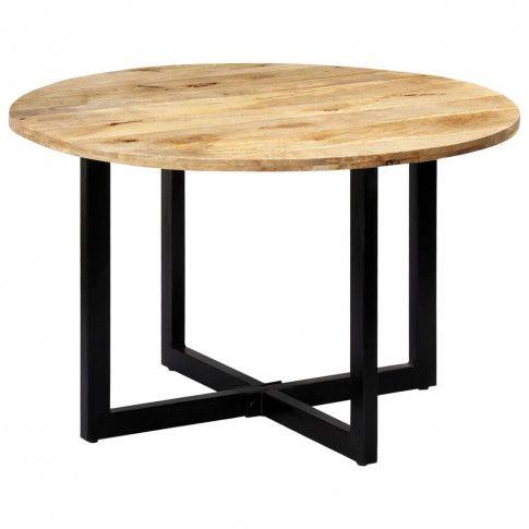 Zdjęcie produktu Stół okrągły z drewna Mavin 2X – brązowy .
